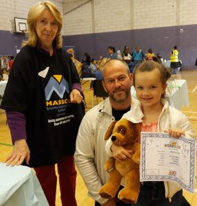 Winner of Guess the bear's name at MASScot stall