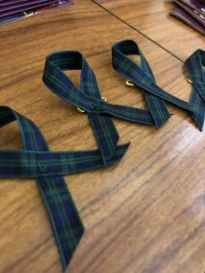 Melanoma awareness ribbon