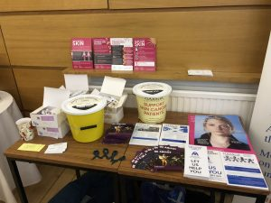 Skin cancer awareness table at Cairns Church